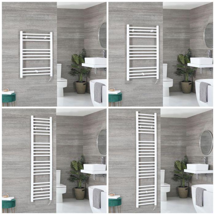 Elektrischer Badheizkörper Flach Weiß Wählbare Größe, mit/ohne Bluetooth – Ive