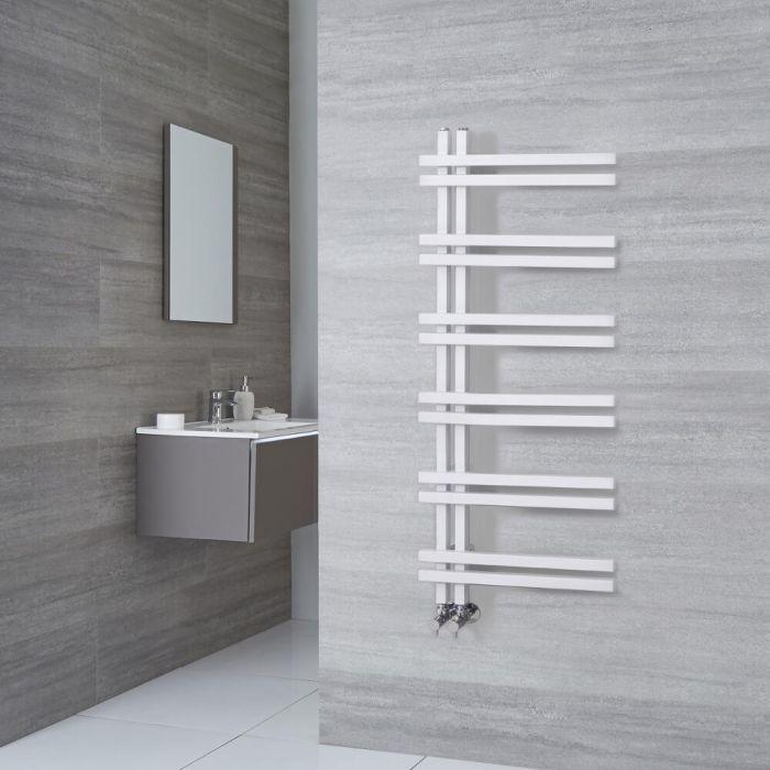 Designer Handtuchwärmer Weiß 1200mm x 500mm 526W - Tika