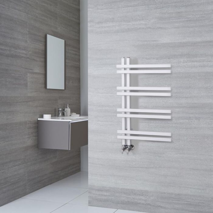 Designer Handtuchwärmer Weiß 800mm x 500mm 351W - Tika