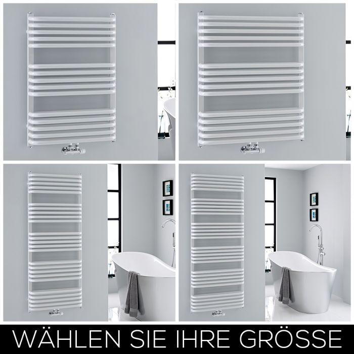 Design Handtuchheizkörper Mittelanschluss Weiß Größe Wählbar - Arch