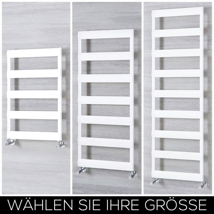Aluminium Design Handtuchheizkörper Weiß Wählbare Größe - Gradus