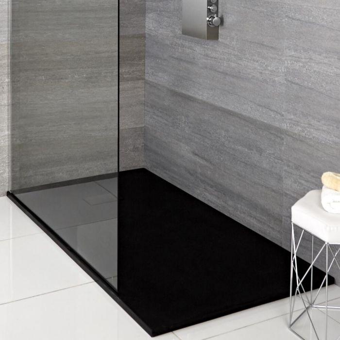 Duschwanne mit Schiefer-Effekt, Anthrazit, rechteckig - 1700mm x 900mm - Rockwell
