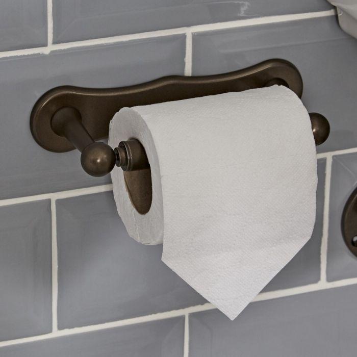 Nostalgie Toilettenpapierhalter, geölte Bronze - Augusta