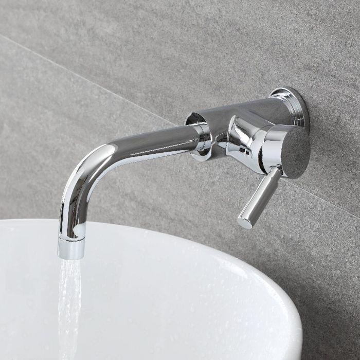 Unterputz Einhebel/ Einloch Waschtischarmatur - Verchromt - Tec