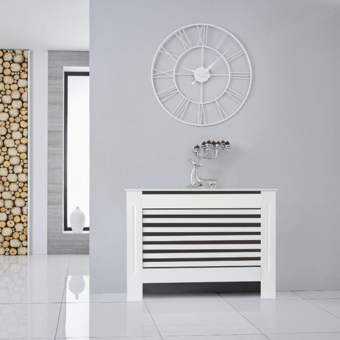 Heizkörperverkleidung Holz Horizontal Weiß 815mm x 1120mm - Newham