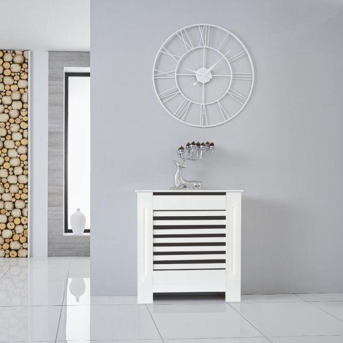 Heizkörperverkleidung Holz Horizontal Weiß 815mm x 780mm - Newham