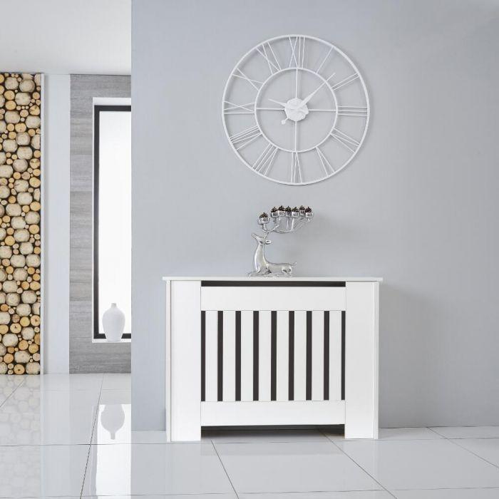 Heizkörperverkleidung Holz Horizontal Weiß 815mm x 1120mm - Sutton
