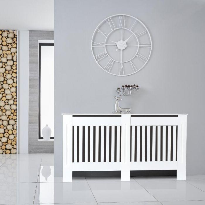 Heizkörperverkleidung Holz Horizontal Weiß 815mm x 1520mm - Sutton
