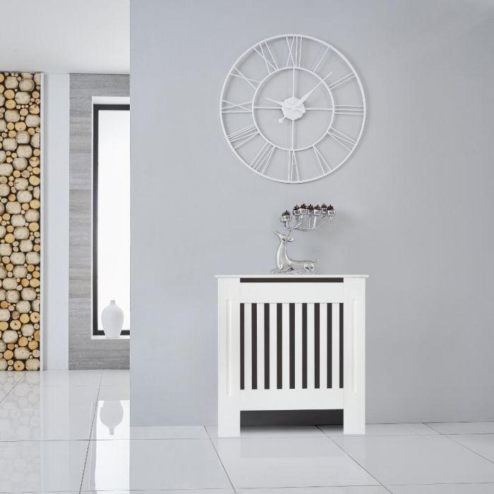 Heizkörperverkleidung Holz Horizontal Weiß 815mm x 780mm - Sutton