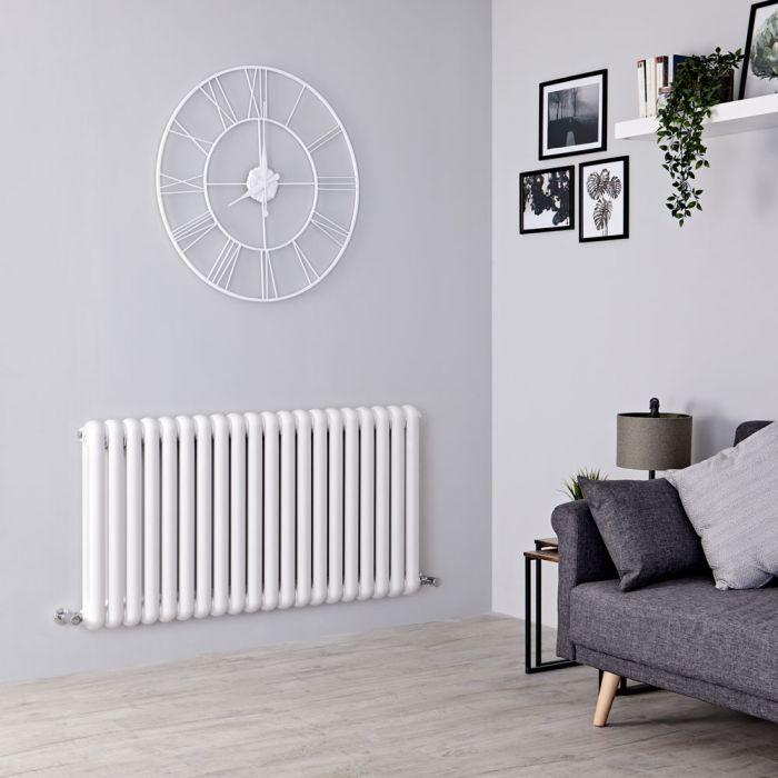 Säulenheizkörper, 635mm x 1223mm, 1660W - Weiß - Saffre