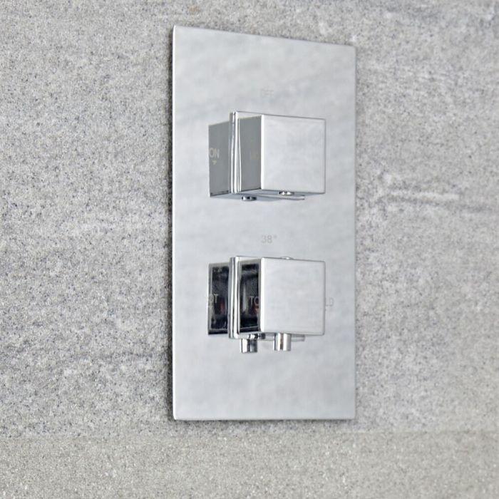 Moderne 1-Weg Armatur eckige Griffe Unterputz - Kubix
