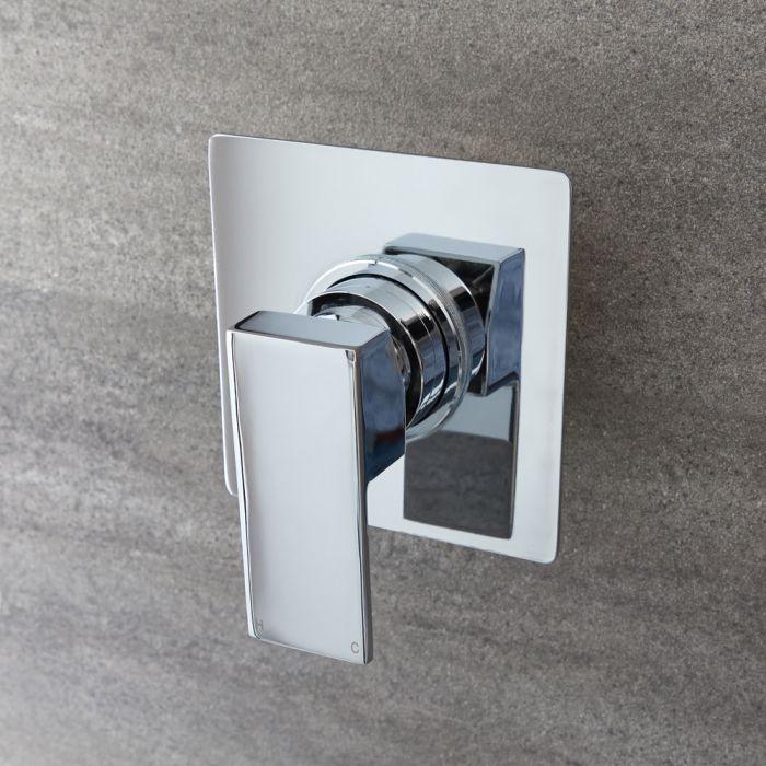 Dusch-Einhebelmischer Quadratisch Chrom - Kubix