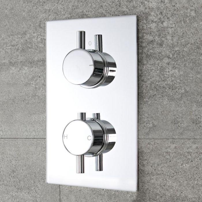 Moderne Twin Armatur runde Griffe Unterputz - Como