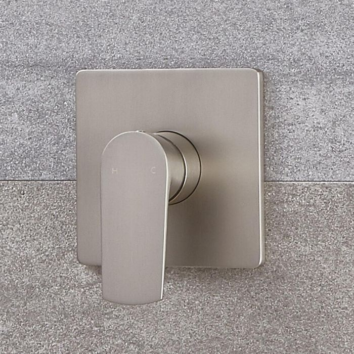 Moderne Manuelle 1-Weg Duscharmatur in gebürstetem Nickel - Harting