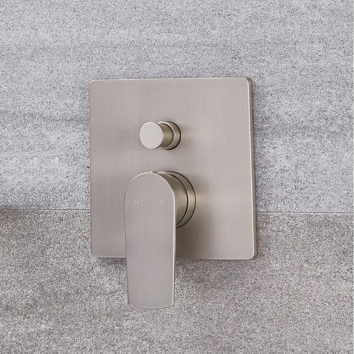 Moderne Manuelle 2-Wege Duscharmatur in gebürstetem Nickel - Harting