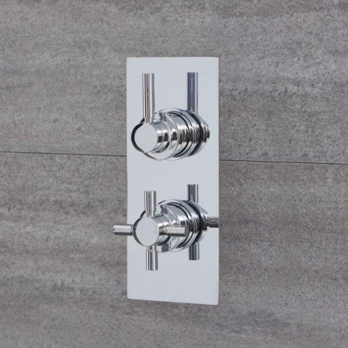1-Weg Runde Thermostat-Duscharmatur Chrom - Tec
