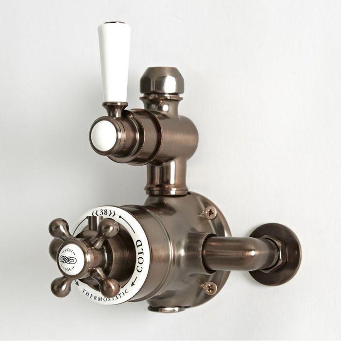 Retro Aufputz-Thermostat für 1 Verbraucher – geölte Bronze - Elizabeth