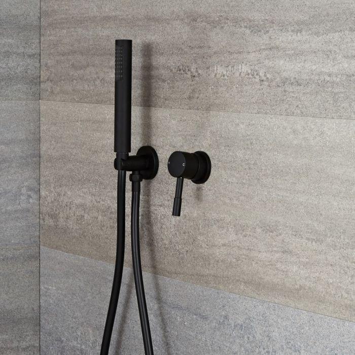Unterputz-Einhebelmischer mit Handbrauseset - Schwarz - Nox