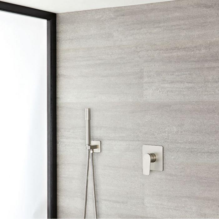 Aldwick Einhebel-Duscharmatur mit runder Handbrause- Gebürstetes Nickel