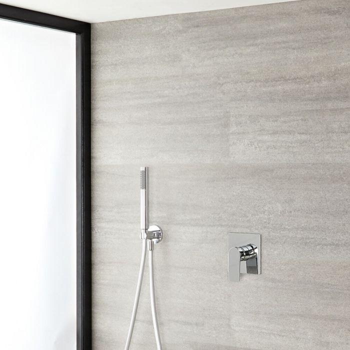 Runde Handbrause mit Einhebel-Duscharmatur Chrom - Harting