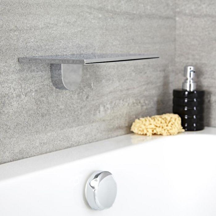Wasserfall-Duschkopf/Wanneneinlauf, 230mm x 160mm - Chrom - Blade