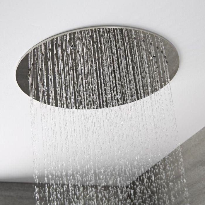 Runder Unterputz-Duschkopf zur Deckenmontage, 400mm – Chrom – Como
