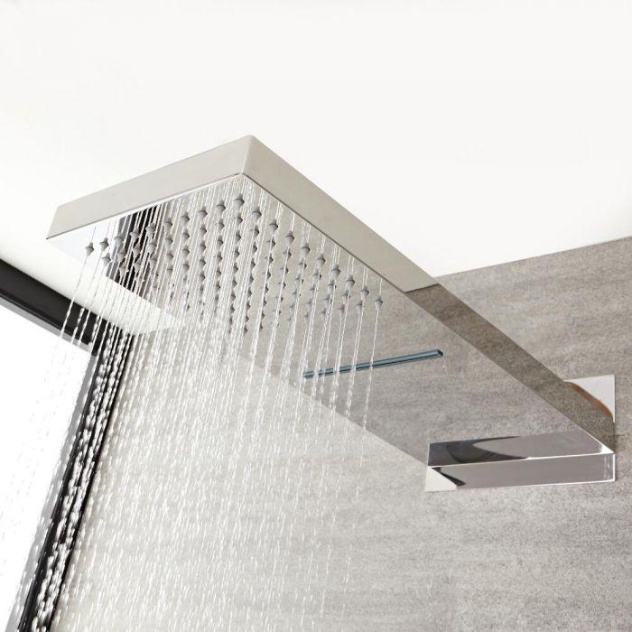 Duschkopf mit Wasserfallausguss 500mm x 200mm - Kubix