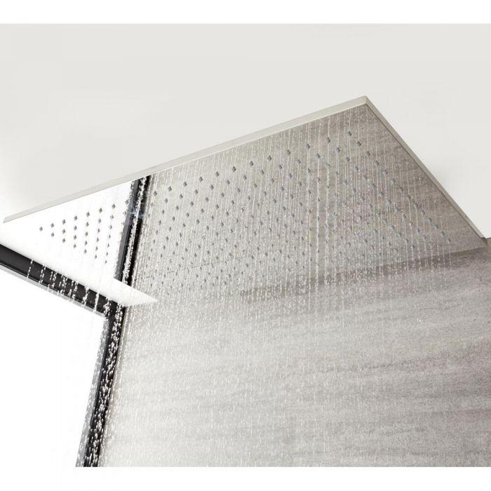 Duschkopf zur Deckenmontage, 800mm x 500mm - Chrom – Kubix