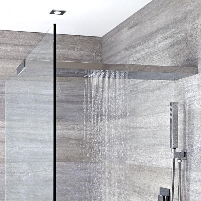 Duschkopf-Duschglaswandhalterung in Kombination 900mm x 250mm - Iko