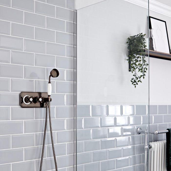 Traditionelles Dusch-Thermostat mit Handbrause, geölte Bronze - Elizabeth