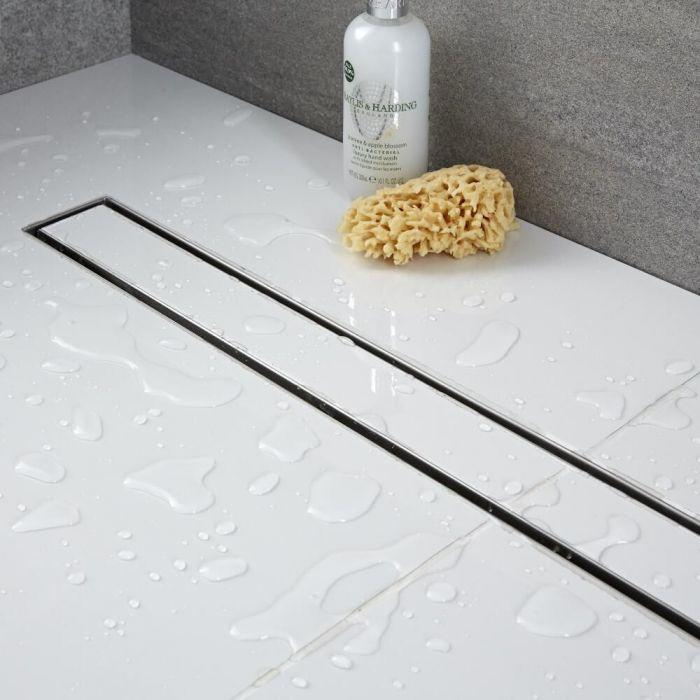 Linearer Duschablauf aus Edelstahl 600 mm Befliesbar