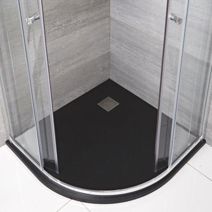 Rockwell -  Graphit Stein-Optik Eckduschwanne 900mm