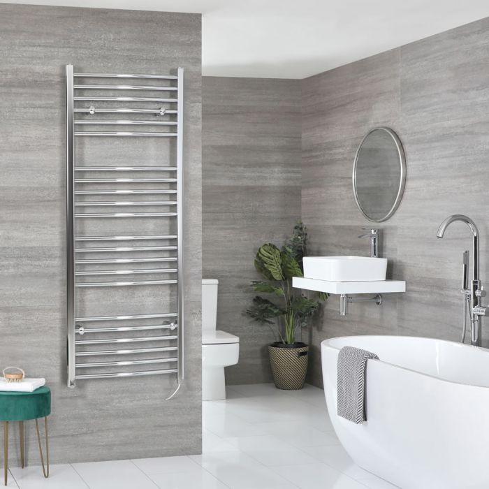 Elektrischer Badheizkörper Gebogen Chrom Wählbare Größe – Kent