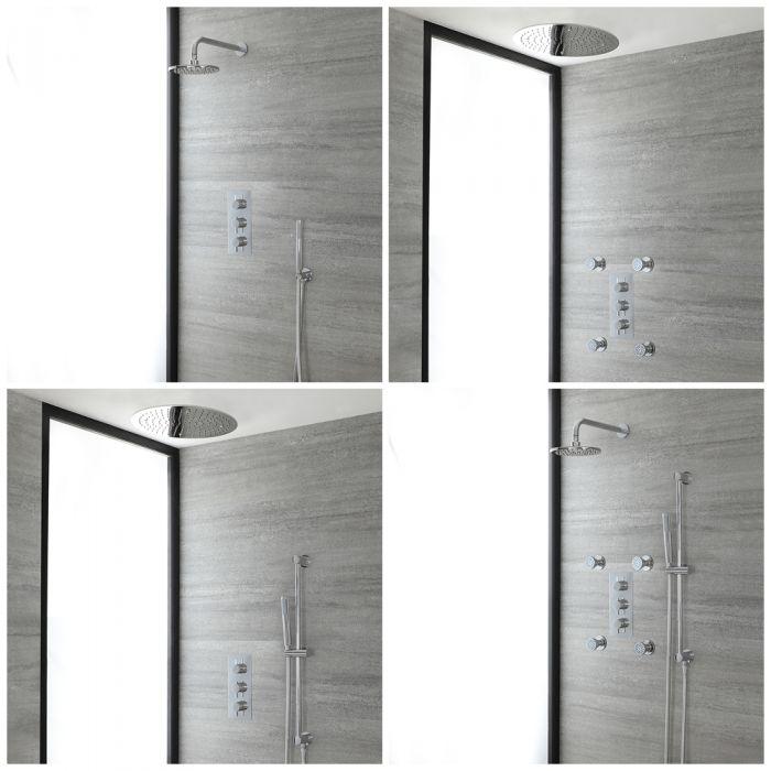 Duschsystem mit Unterputz-Thermostat – Funktionen wählbar – Chrom – Como