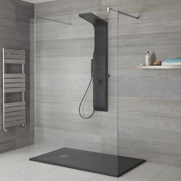 Aufputz-Duschpaneel – mit Duschkopf, Handbrause und Körperdüsen – wählbares Finish - Alston