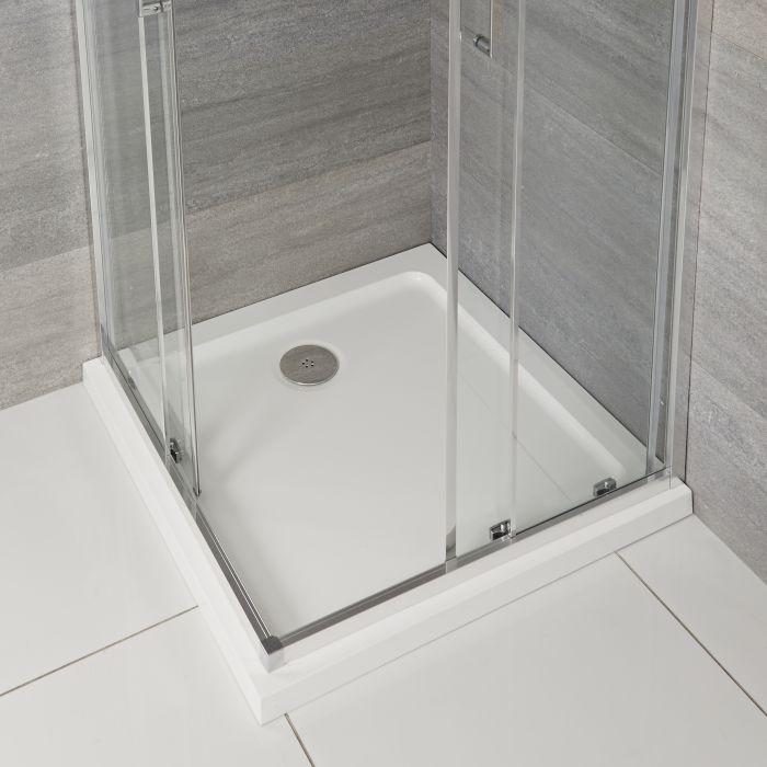 Quadratische Duschwanne mit niedrigem Profil Maxon - Verschiedene Größen