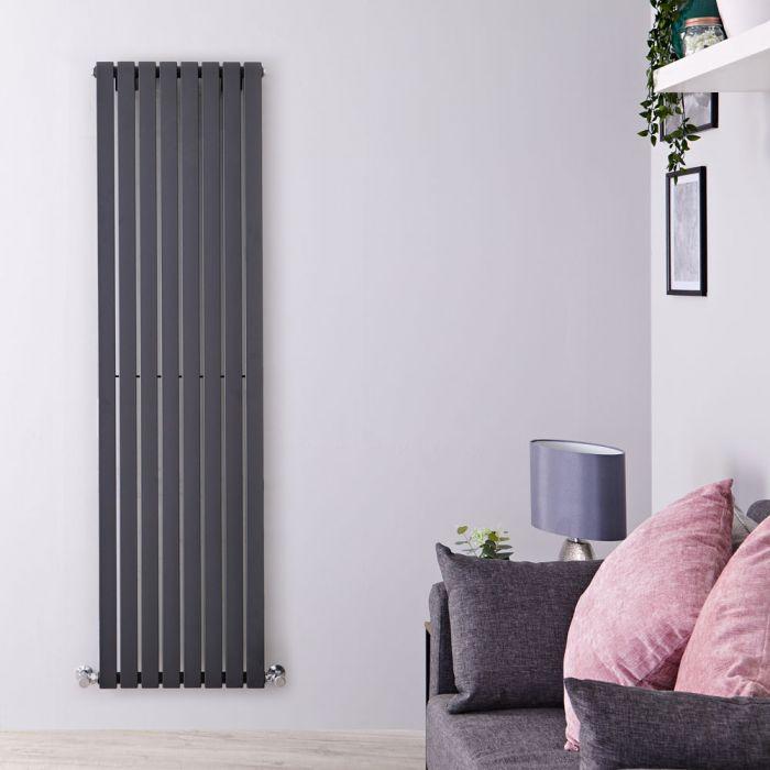 Design Heizkörper Vertikal Anthrazit 1780mm x 472mm 1195W (einlagig) - Sloane