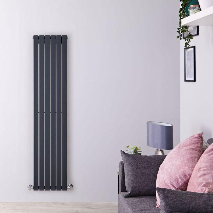 Design Heizkörper Vertikal Anthrazit 1780mm x 354mm 896W (einlagig) - Sloane