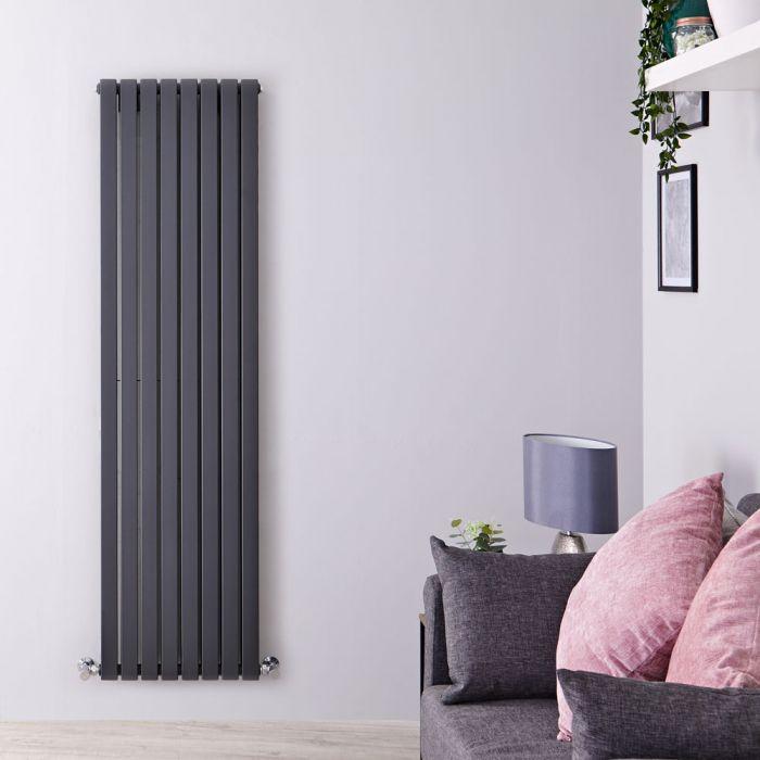 Design Heizkörper Vertikal Anthrazit 1780mm x 472mm 1930W (doppellagig) - Sloane
