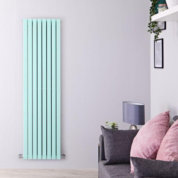 Design Heizkörper Vertikal Mintgrün 1780mm x 472mm 1931W (doppellagig) - Sloane