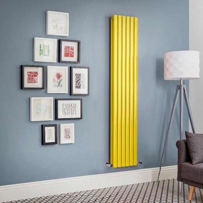 Design Heizkörper Vertikal Doppellagig Gelb Revive - Größe wählbar