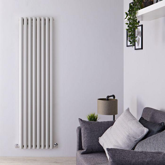 Design Heizkörper Vertikal Silber/Grau 1780mm x 472mm 1391W (einlagig) - Savy
