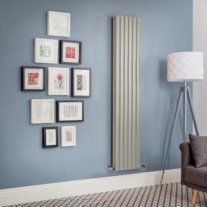 Design Heizkörper Vertikal Doppellagig Salbeigrün Revive - Größe wählbar