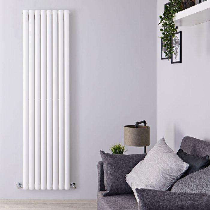Design Heizkörper Vertikal Weiß 1780mm x 472mm 1189W (einlagig) - Revive