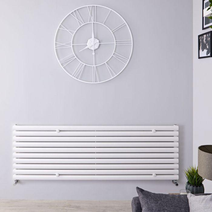 Design Heizkörper Horizontal Einlagig Weiß 590mm x 1780mm 1476W - Revive