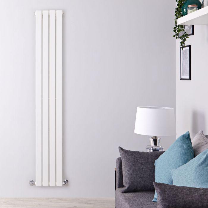 Design Heizkörper Vertikal Weiß 1780mm x 280mm 658W (einlagig) - Delta