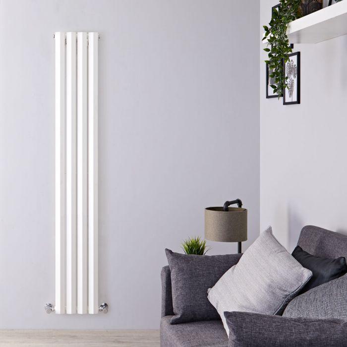 Design Heizkörper Vertikal Einlagig Weiß 1780mm x 280mm 700W - Vital