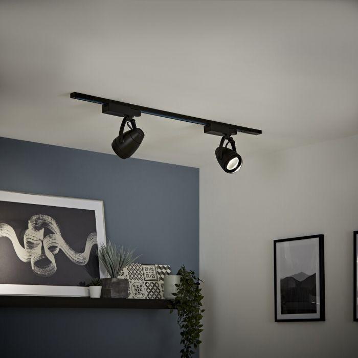 LED Schienenbeleuchtung, 12 Watt, Schwarz, Länge wählbar - Biard