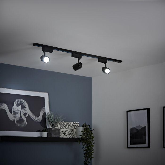 LED Schienenbeleuchtung, 7Watt, Schwarz,  Größe wählbar - Biard