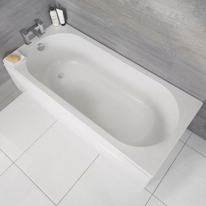 Einbau-Badewanne mit abgerundeten Enden (ohne Schürze) – 1700mm x 750mm - Covelly